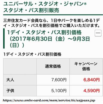 USJ,ユニバーサルスタジオジャパン,三井住友カード,割引
