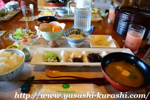 屋久島,てぃーだ,朝食,コテージの滝,ぷかり堂