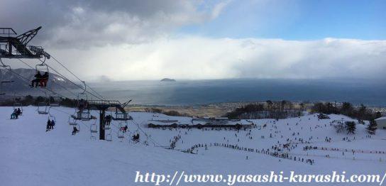 箱館山スキー場,滋賀,琵琶湖,ゴンドラ,ノーマルタイヤ